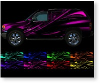 vehicle vinyl wrap Cyber Ghost
