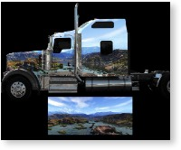 vehicle vinyl wrap Mountain Stream