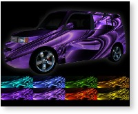 vehicle vinyl wrap Pandora